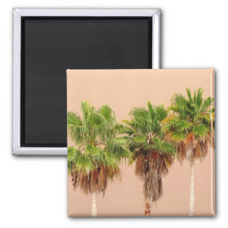 Three Palms Before the Storm 2 Inch Square Magnet