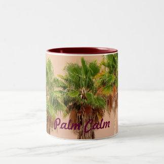 Three Palms Before the Storm Two-Tone Coffee Mug
