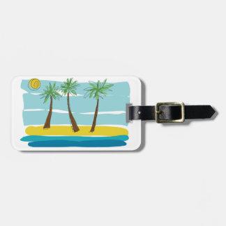 Three Palms Luggage Tags