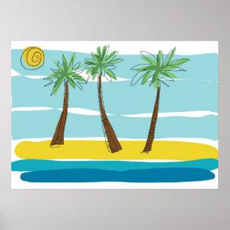 Three Palms Poster