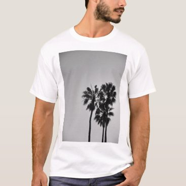 Beach Themed Three Palms White T-Shirt