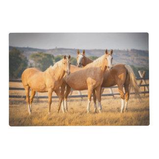 Three Palomino Ponies Placemat