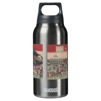 Three Panel Scene of Tokyo 10 Oz Insulated SIGG Thermos Water Bottle