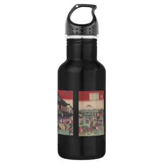 Three Panel Scene of Tokyo 18oz Water Bottle
