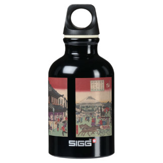Three Panel Scene of Tokyo SIGG Traveler 0.3L Water Bottle