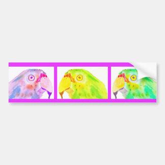Three Parrots Bumper Sticker Car Bumper Sticker