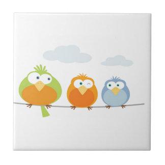Three Passarinhos/Tree little birds Tile