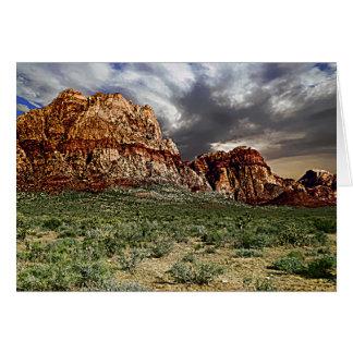 Three Peaks in Red Rock, Las Vegas NV Blank Inside Card
