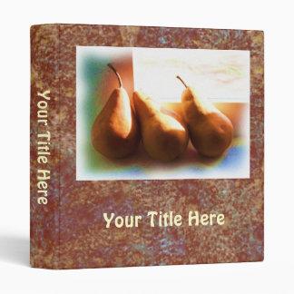 Three Pears 3 Ring Binder
