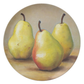 Three Pears Party Plate