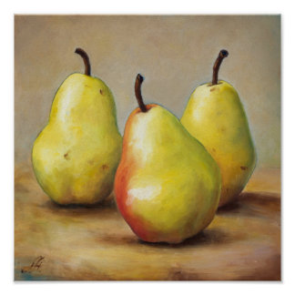 Three Pears Poster