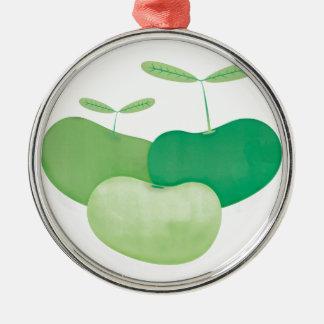 Three peas from a pod metal ornament