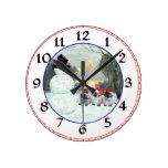Three Pekingese Puppies Christmas Wall Clocks