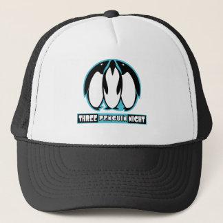 Three Penguin Night Trucker Hat