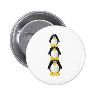 Three Penguins Button