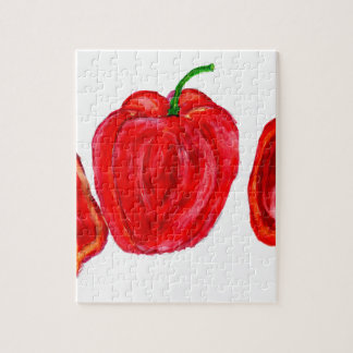 Three Peppers Art Jigsaw Puzzle