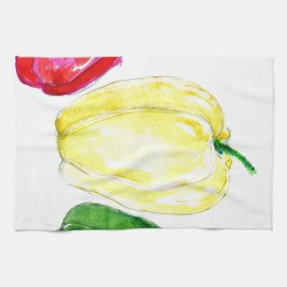 Three Peppers Art Towel