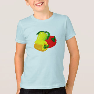 Three peppers graphic red yellow green T-Shirt