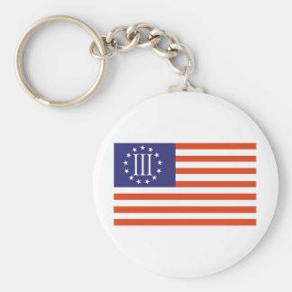 Three Percent Flag Keychains
