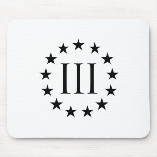 Three Percent Mouse Pad - White Background