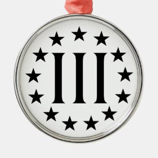 Three Percent - Threeper Metal Ornament