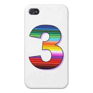 Three - Personalise for Birthdays, Ages or Events. Cover For iPhone 4