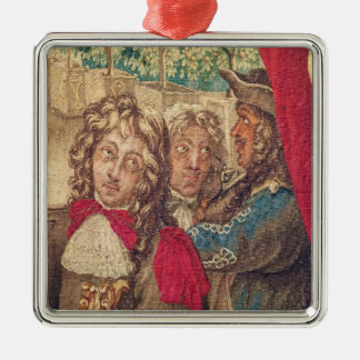 Three persons, from the Month of January Metal Ornament