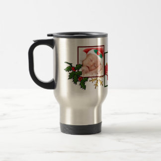 Three Photo Collage Custom Year Christmas Mug
