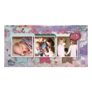Three Photo Scrapbook Design Photo Card