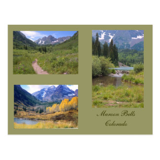 Three Photos of the Maroon Bells Postcard