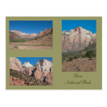 Three Photos of Zion National Park Postcards