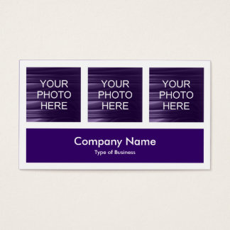 Three Photos Plus One - Deep Violet Business Card