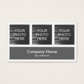 Three Photos Plus One - Gray Business Card