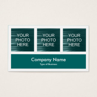 Three Photos Plus One - Moss Green Business Card
