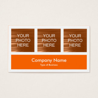 Three Photos Plus One - Orange Business Card