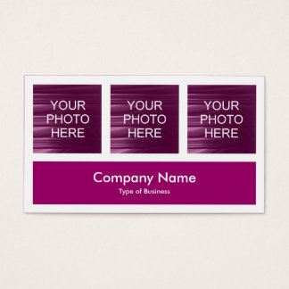Three Photos Plus One - Plum Business Card