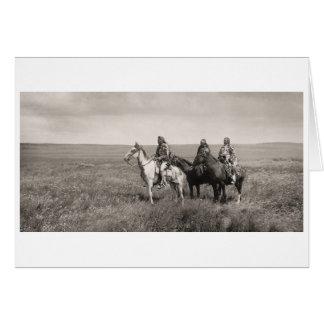 Three Piegan Blackfeet Chiefs - vintage Card