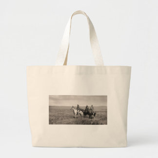 Three Piegan Blackfeet Chiefs - vintage Large Tote Bag
