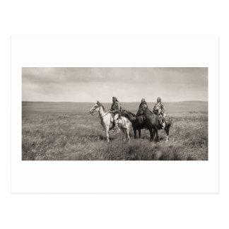 Three Piegan Blackfeet Chiefs - vintage Postcard