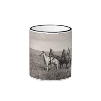 Three Piegan Blackfeet Chiefs - vintage Ringer Mug