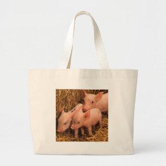 three piglets canvas bags
