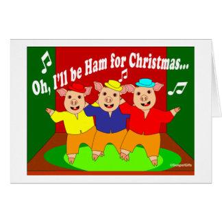 Three Pigs Christmas Christian Gift Greeting Card
