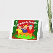 Three Pigs Christmas Christian Gift Holiday Card