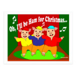 Three Pigs Christmas Christian Gift Post Cards