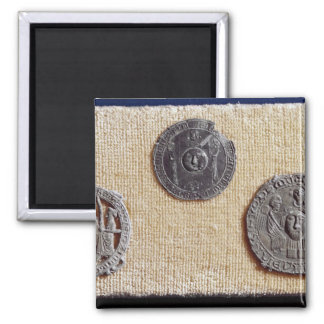 Three pilgrimage plaques of St. Jean d'Amiens Refrigerator Magnet