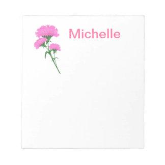 Three Pink Carnations Memo Pads