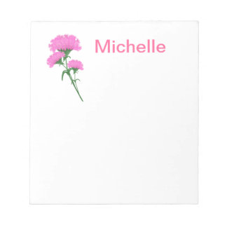 Three Pink Carnations Notepad