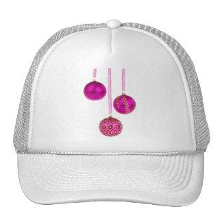 Three Pink Christmas Balls Hats