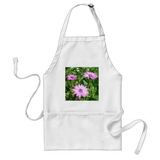 Three Pink Daisy Flowers Adult Apron