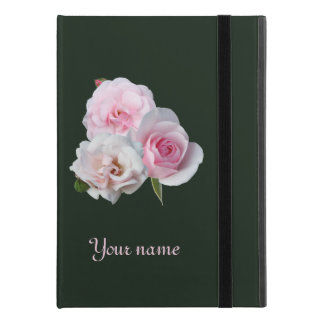 """Three pink roses. Add your text. iPad Pro 9.7"""" Case"""